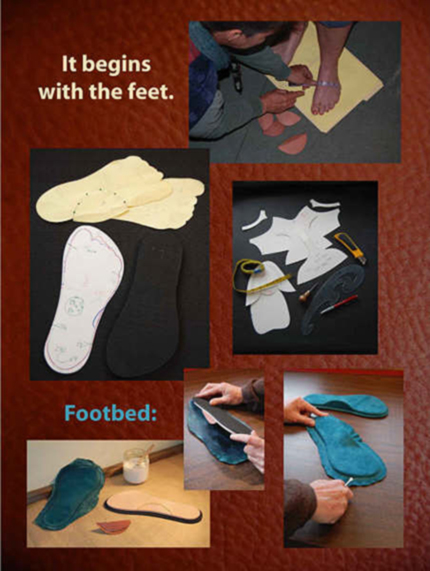 Making the footbed of Toe Togs shoes.